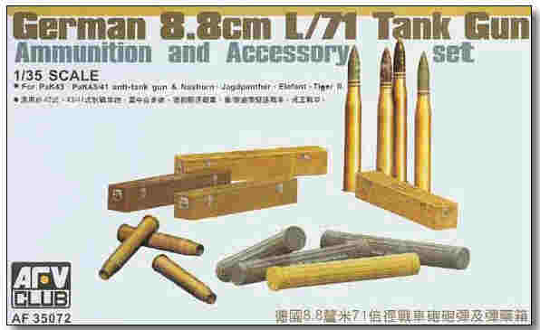 8.8cm L/71 Ammunition and Accessory 1:35