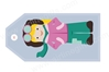 Aviator Girl Bag Tag TAG407