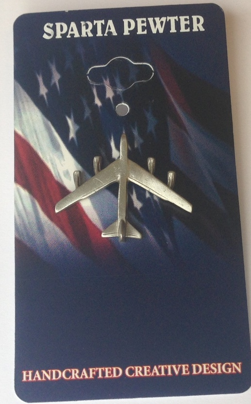 B-52 Pin Pewter Lapel Pin / Tie Tack