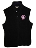 Powder Puff Pilot Ladies Microfleece Vest-Black - MVB-S
