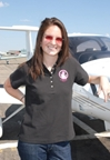 Powder Puff Pilot Ladies Polo Shirt Black