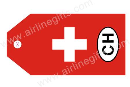 Swiss Flag Bag TagTAG322