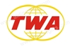 TWA Retro Logo Patch (Iron On Applique) APP023
