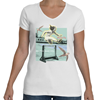 Women Fly Hurdler V-Neck T-shirt