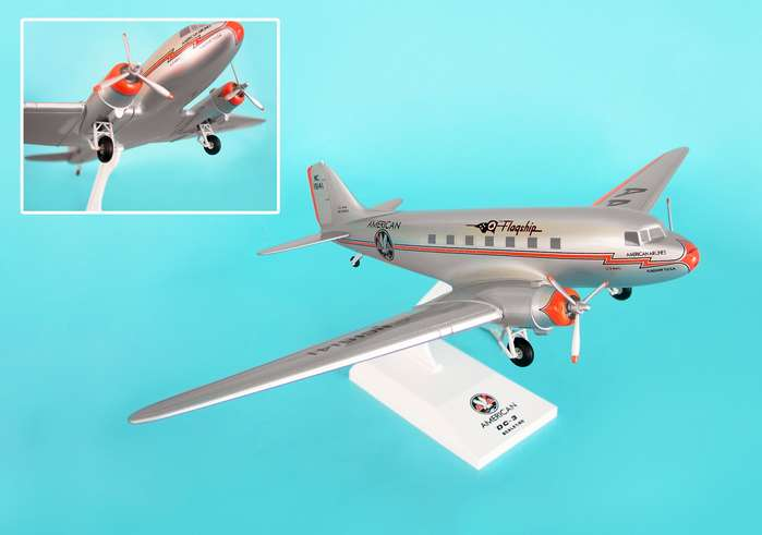 "American Airlines DC-3 ""Flagship Tulsa"" (1:80) W/Gear"