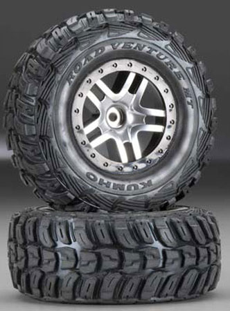 6870R Tire/5876 Wheel Mounted Slash 2WD Front (2)