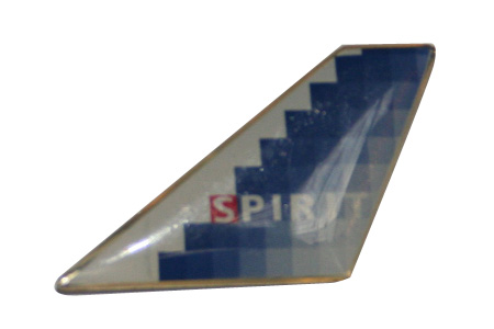 Spirit Airlines Blue Bullet Lapel Pin / Tie Tack