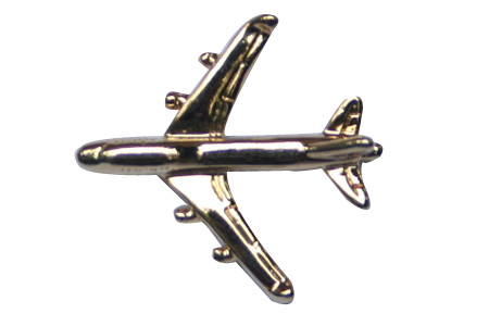 Boeing 747 3D (Gold) Lapel Pin / Tie Tack