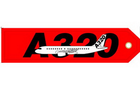A320 Embroidered Keyring