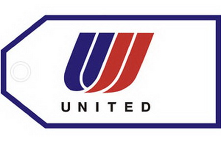 United Airlines Logo Bag Tag