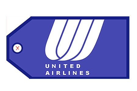 United Airlines (Blue) Bag Tag