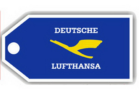 Lufthansa Retro Bag Tag