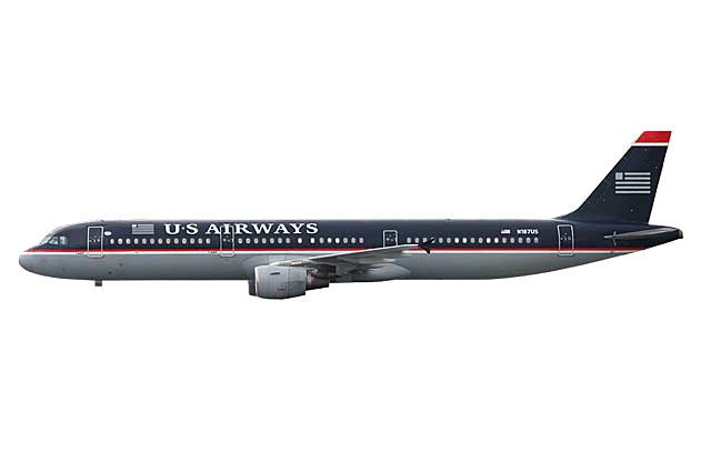 US Airways A321 N187US (1:400) - Preorder item, order now for future delivery