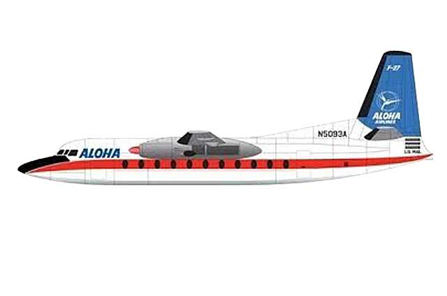 Aloha Airlines F-27 N5093A (1:400) - Preorder item, order now for future delivery