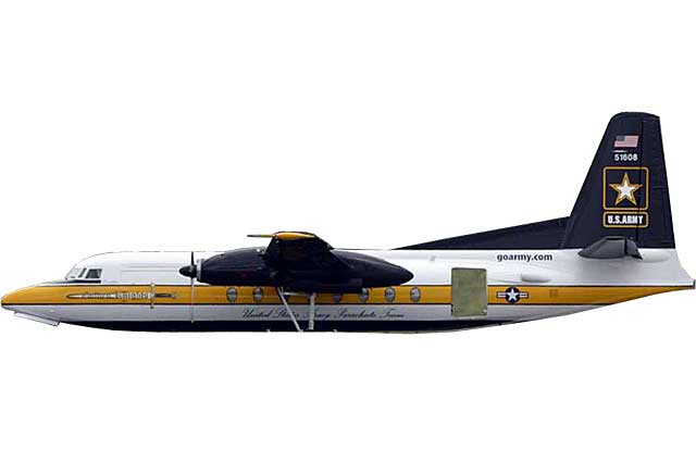 US Army F-27 Golden Knights  #51607 (1:400) - Preorder item, order now for future delivery