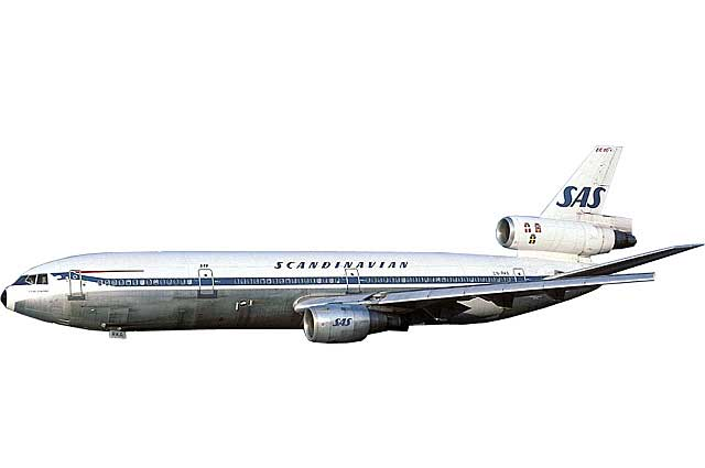 SAS DC-10-30 LN-RKA (1:500) - Preorder item, order now for future delivery