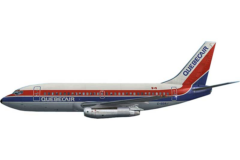 Quebecair 737-200 C-GQBJ (1:400) - Preorder item, order now for future delivery