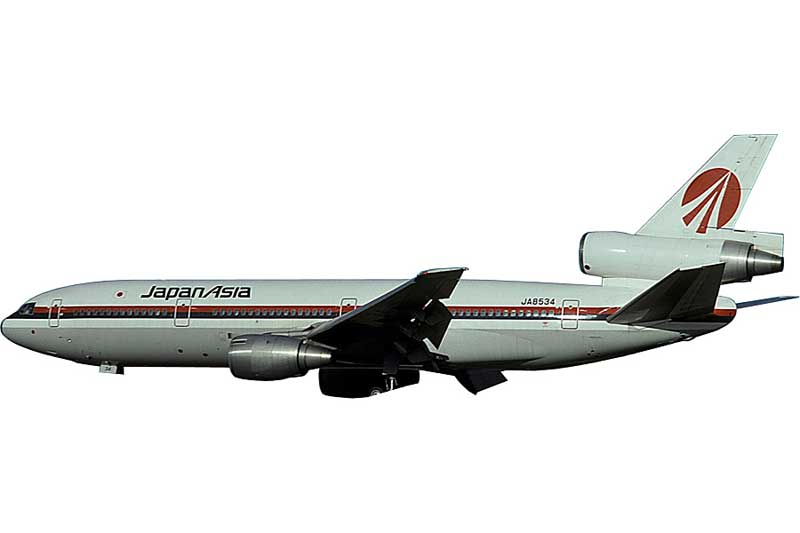 Japan Asia DC-10-40 JA8534 (1:400) - Preorder item, order now for future delivery