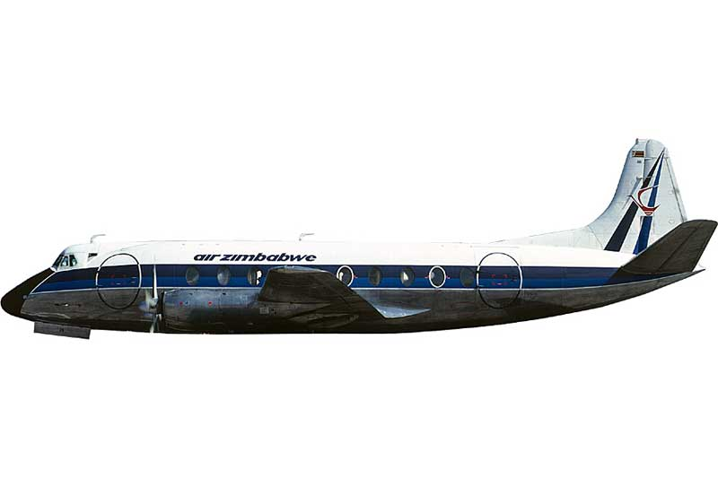 Air Rhodesia Viscount 700 VP-YNL (1:400) - Preorder item, order now for future delivery