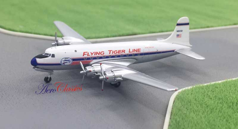 Flying Tigers DC-4 N86581 (1:400)