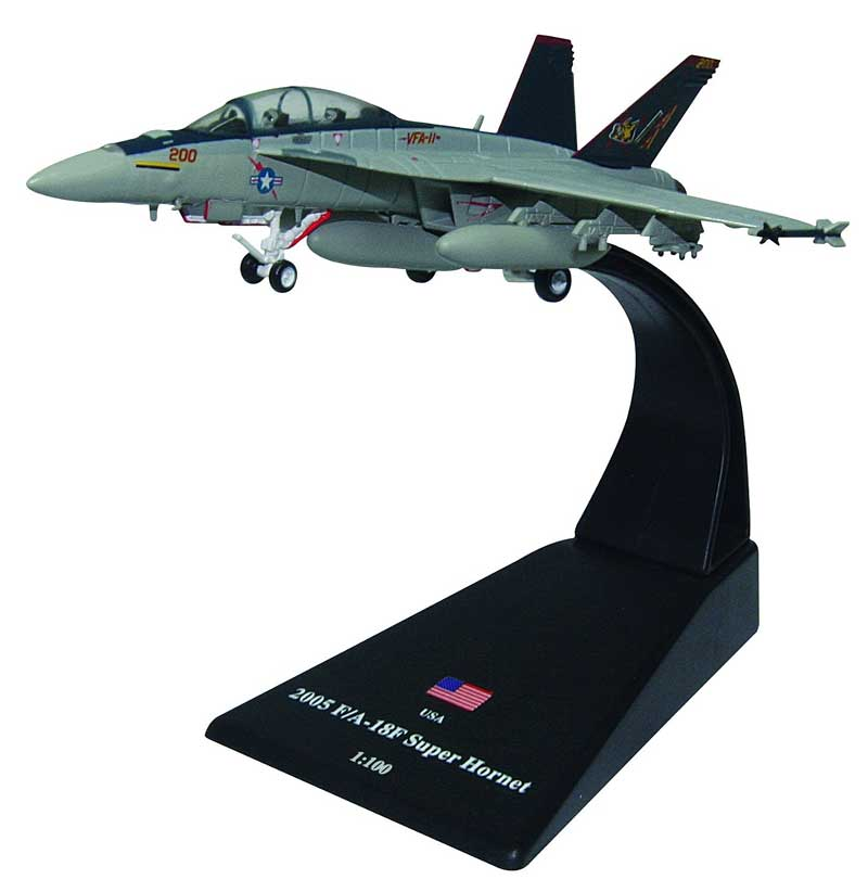"F/A-18F Super Hornet, VFA-11""Red Rippers"" U.S. Navy, 2005 (1:100)"