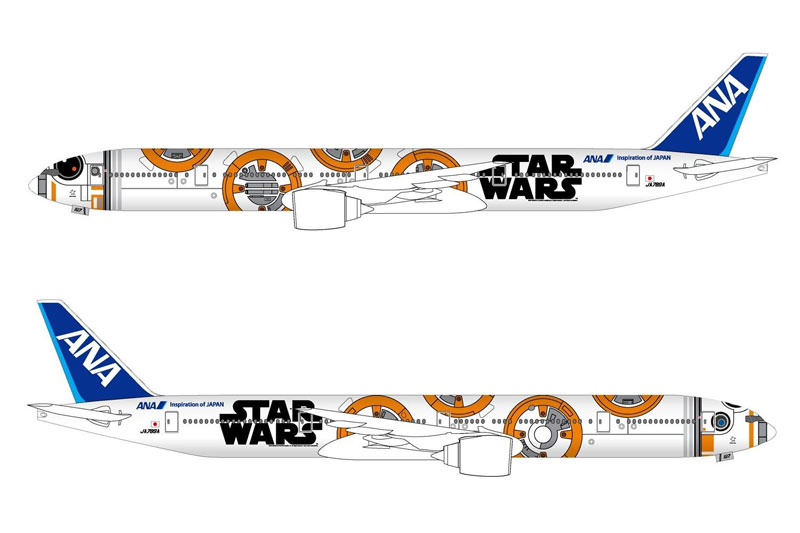 "ANA B777-300ER ""BB-8"" JA789A (1:400) Star Wars Special Livery - Preorder item, order now for future delivery"