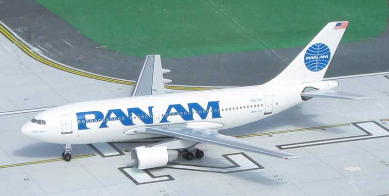 Pan American World Airways A310-222, N801PA, 1990s Billboard Colors (1:400)