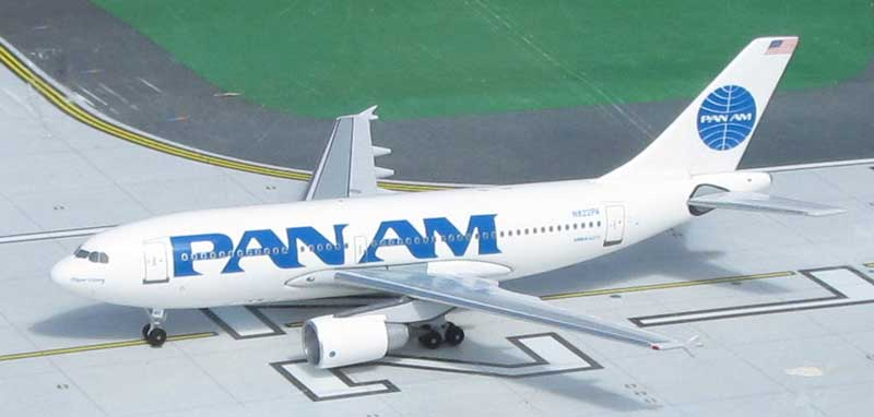 Pan American World Airways A310-222, N822PA 1990s Billboard Colors (1:400)