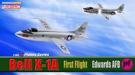Bell X-1A, First Flight, Edwards AFB (Contain 2 replicas) (1:144)