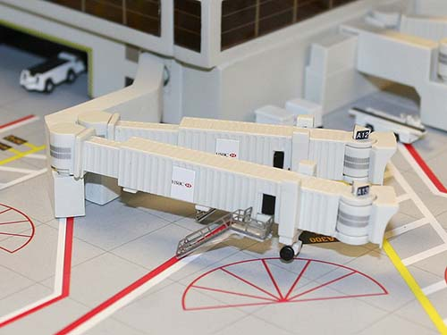 Airbridge Jetway Set 2, 3 Double Widebody Bridges (1:400)