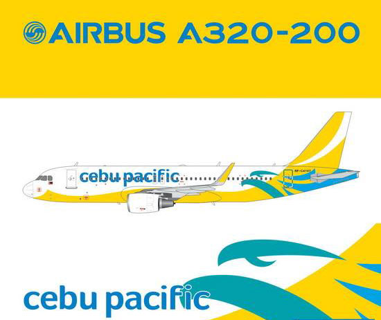 Cebu Pacific A320(S) (New Livery, Sharklets) RP-C4107 (1:400)