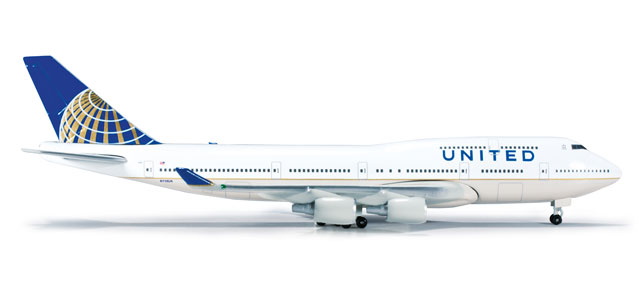 United 747-400 (1:500) Post Continental Livery N119UA
