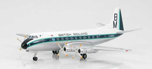 British Midland Airways, 1968 Vickers Viscount 700 (1:200)