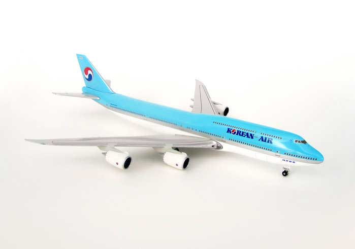 Korean 747-8 With Gear & Stand Straight Wings (1:500)