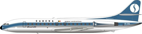 Sabena Sud SE-210 Caravelle VI-N OO-SRA (1:200) - Preorder item, Order now for future delivery