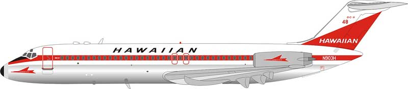 Hawaiian Air McDonnell Douglas DC-9-31 N903H Polished (1:200) - Preorder item, Order now for future delivery