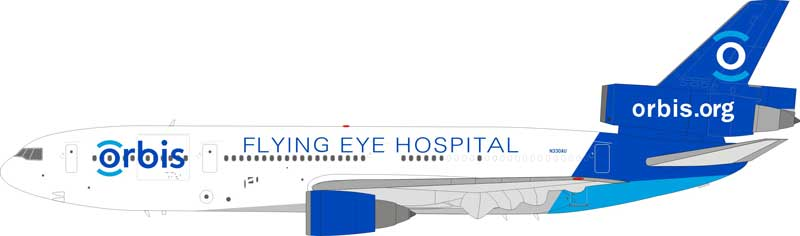 Orbis Flying Eye Hospital MD-10-30 N330AU (1:200)
