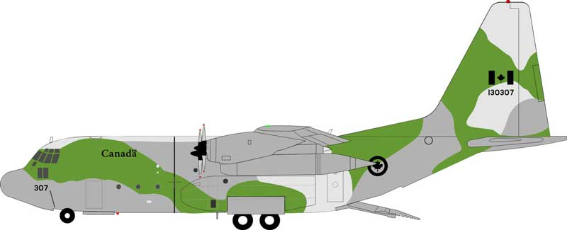 Canadian Air Force Lockheed CC-130E Hercules (C-130E/L-382) 130307 (1:200)