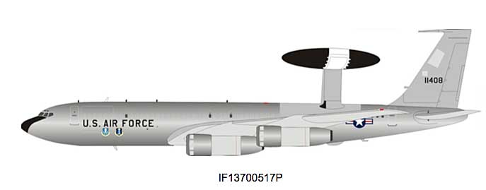 US Air Force Boeing EC-137 Sentry (707-300) 71-1408 Polished (1:200)