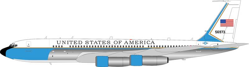USAF Boeing C-137C (707-300) 85-6973 Polished (1:200) - Preorder item, Order now for future delivery