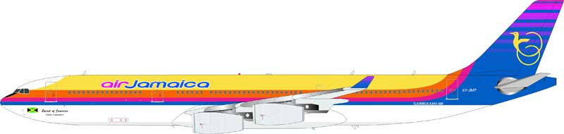 "Air Jamaica Airbus A340-300 6Y-JMP ""Spirit of Jamaica"" (1:200) - Preorder item, Order now for future delivery"