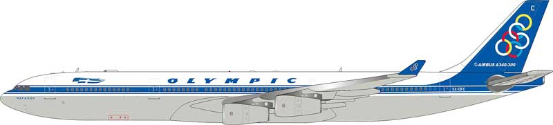 Olympic Airbus A340-300 SX-DFC (1:200) - Preorder item, order now for future delivery