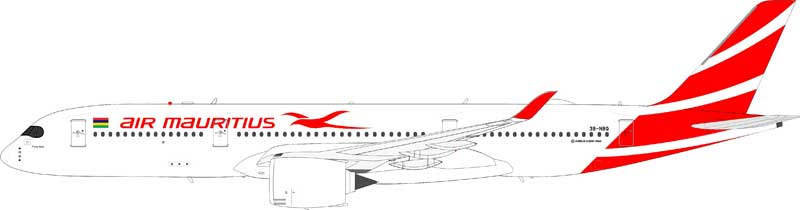 Air Mauritius Airbus A350-900 3B-NBQ (1:200) - Preorder item, Order now for future delivery
