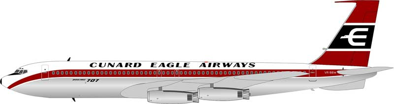 Cunard Eagle Airways Boeing 707-465 VR-BBW (1:200)