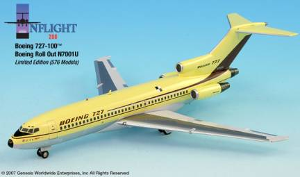 "Boeing 727-100 ""Roll Out"" (1:200) -SECOND"
