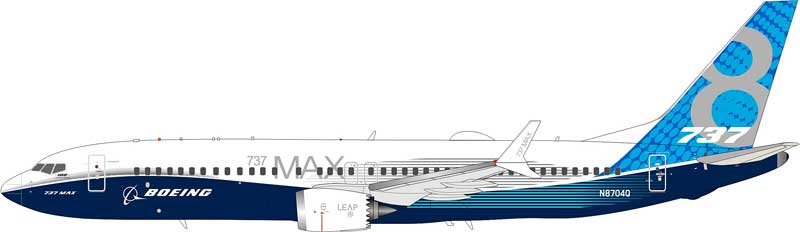 Boeing 737-8 Max House color N8704Q (1:200) - Preorder item, Order now for future delivery