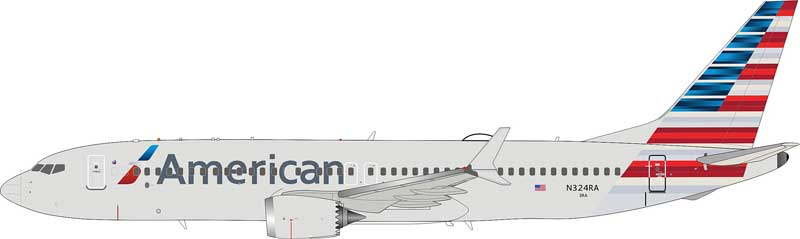 American Airlines Boeing 737-8 Max N324RA (1:200) - Preorder item, Order now for future delivery