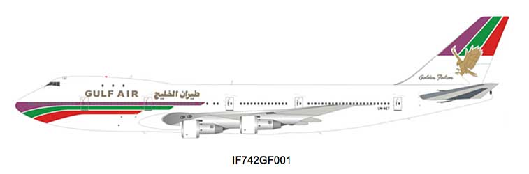 Gulf Air Boeing 747-200 LN-AET (1:200) - Preorder item, Order now for future delivery