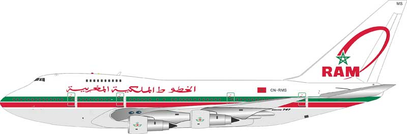 Royal Air Maroc  Boeing 747SP CN-RMS (1:200) - Preorder item, Order now for future delivery