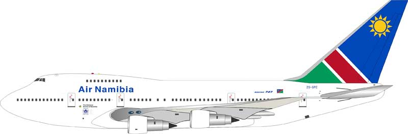 Air Namibia Boeing 747SP-44  ZS-SPC (1:200)